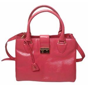 DRAPER JAMES | Coral Pink Patent Leather Bag